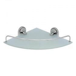 Полка стеклянная угловая Lidz (CRG) 114.10.01