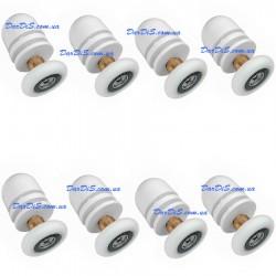 Комплект роликов для душевой кабины 8 шт. В-06 А 19, 20,22, 26 и 28