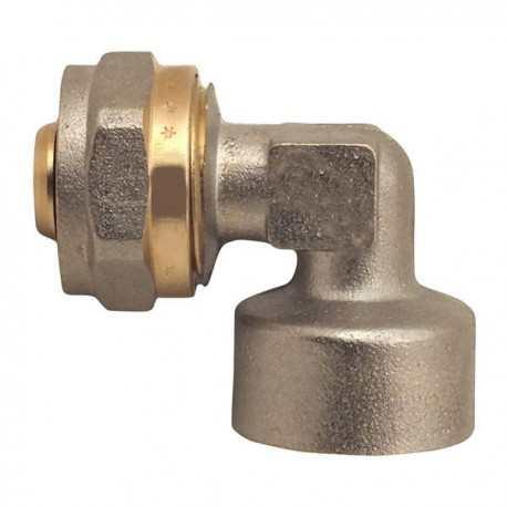 Угольник для металлопластиковой трубы 16х1/2 F с внутренней резьбой MASTER