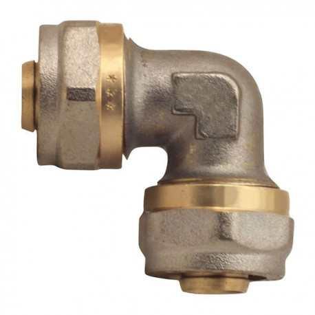 Угольник для металлопластиковой трубы 16х16 цанга/цанга MASTER