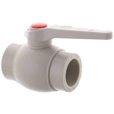 Ппр кран шаровый для горячей воды 50 K0179.PRO Kr Чехия (ручка)
