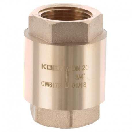 Обратный клапан 3/4 KR.171 латунный с латунным штоком KR Чехия
