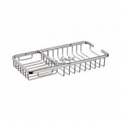 Полка прямоугольная решетка для ванной ZERIX LR337 250x130мм