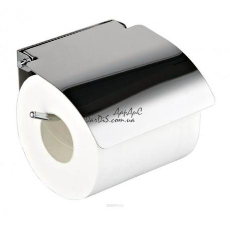 Бумагодержатель для туалетной бумаги с крышкой