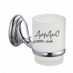 Стакан одинарный настенный для ванной комнаты (стекло) ZERIX LR1506
