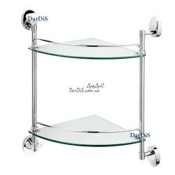 Полка угловая 2-ярусная (стекло) (250x250мм) ZERIX LR3307-2