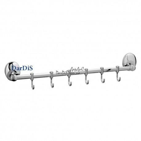 Планка с 6-ю подвижными крючками ZERIX LR3315-6
