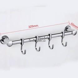 Планка с 4-мя подвижными крючками ZERIX LR205-4