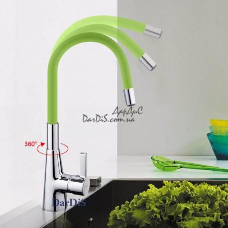 смеситель для кухни гибкий излив зелёный MIXXUS RAINBOW 026 green