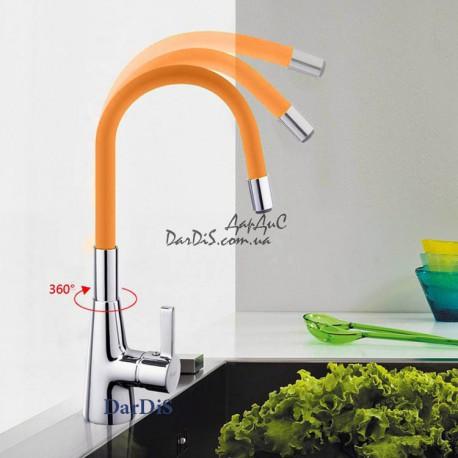 смеситель для кухни с гибким изливом оранжевый MIXXUS RAINBOW 026