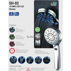 Лейка для душа STORM SH-02-G10M5-LED-LCD