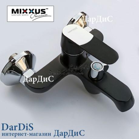 Черный смеситель для ванны с душем MIXXUS PREMIUM TIGER 009 EURO BLACK