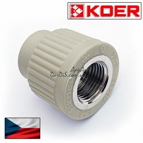 Муфта Pprc комбинированная Koer 20x1/2 дюйма с внутренней резьбой