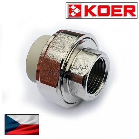 Муфта разъёмная сгон-американка Koer 20x1/2 с внутренней резьбой