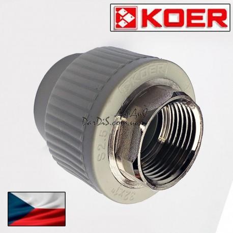 Муфта Pprc комбинированная Koer 40x1.1/4 с внутренней резьбой