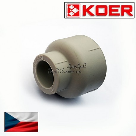 Муфта переходная редукционая ВВ Koer 40×25 внутренняя-внутренняя.