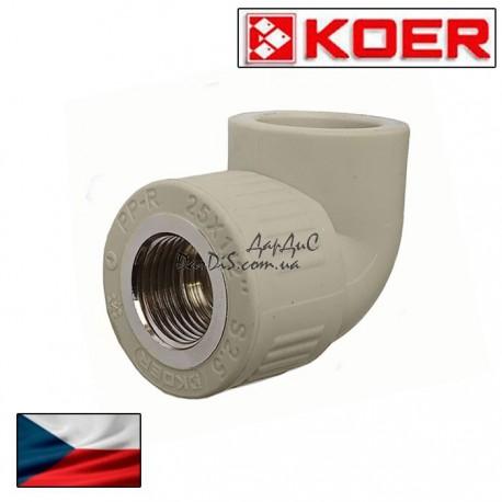 Угольник комбинированный Koer ппр угол ВР 32*3/4F с внутренней резьбой.