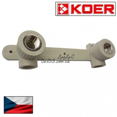 Koer ппр планка монтажная 20*1/2F с внутренней резьбой.