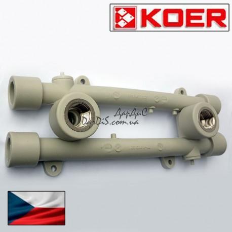 Koer ппр планка монтажная проходная 20*1/2F с внутренней резьбой.