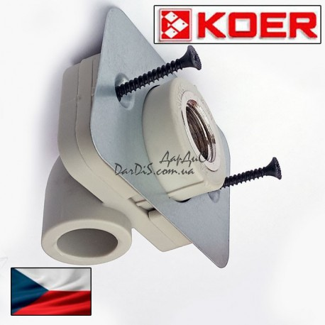 Угольник с креплением Koer угол установочный для гипсокартонна 20*1/2F