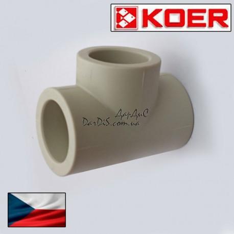 ppr тройник равнопроходной 25 мм Koer полипропиленовый