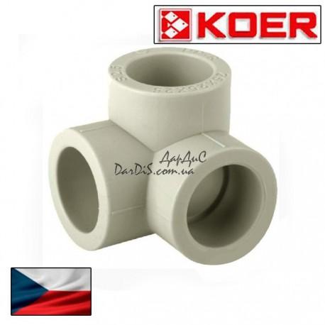 Ppr угол с тремя выходами 20 мм из полипропиленовый Koer