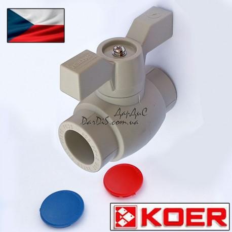 Ппр кран шаровый для горячей воды 20 (бабочка) KOER PPR