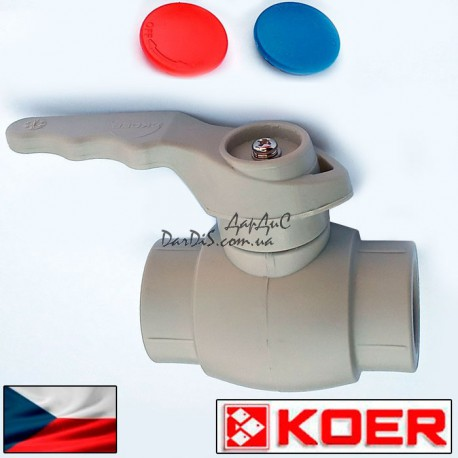 Ппр кран шаровый для горячей воды 20 (ручка) KOER PPR
