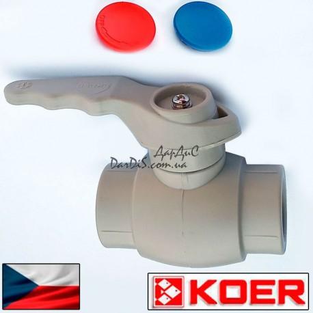 Ппр кран шаровый для горячей воды 50 (ручка) KOER PPR