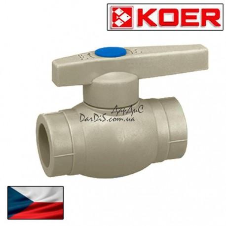 Ппр кран шаровый для холодной воды 32 (ручка) KOER PPR