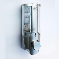 Диспенсер дозатор для жидкого мыла настенный  серый ZERIX LR407 350мл