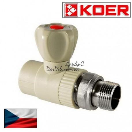 Ппр кран радиаторный прямой 20x1/2 PPR KOER