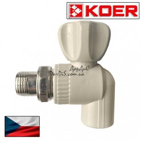 Ппр кран радиаторный угловой 25x3/4 PPR KOER
