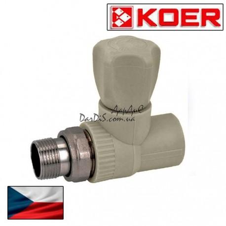 Ппр кран радиаторный прямой вентиль PPR KOER