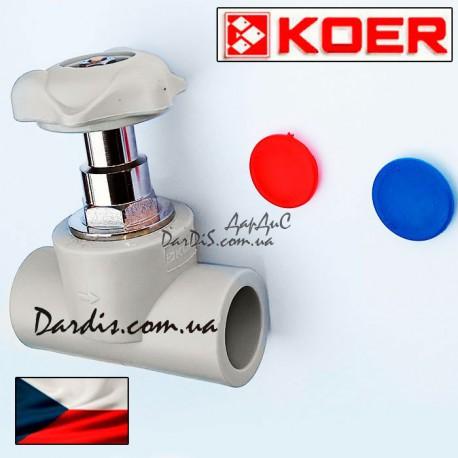 PPR Полипропиленовый кран вентильный 25 KOER