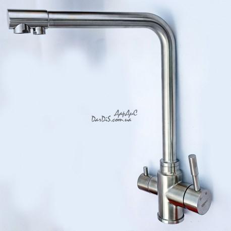 Смеситель для кухни с выходом для питьевой воды SUS304 ZERIX LR4355-3
