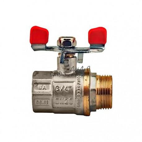 "Кран шаровый СК  3/4"" ГШБ ART.607 Санком Water-Pro"