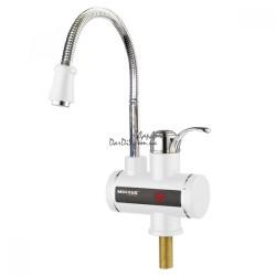 кран водонагреватель проточный MIXXUS Electra 240-EF с индикатором температуры, гибкий (рефлекторный) излив