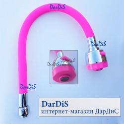 Гусак силиконовый Zerix SPS-1 ROSE  RED розовый