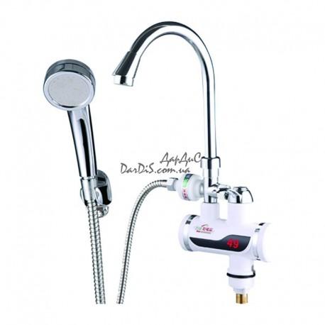 Электрический кран водонагреватель проточный zerix  ELW-08P
