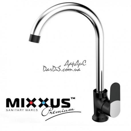 MIXXUS PREMIUM TIGER 014 BLACK Черный смеситель для кухни на мойку
