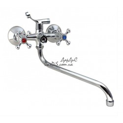 Кран смеситель для ванны дешёвый G-Ferro 140 Chr