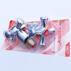Комплект ручек (с кранбуксами, пара) керамика ZERIX HANDLES SET-A827