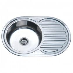 Врезная мойка для кухни Zerix Z7750-06-180D decor