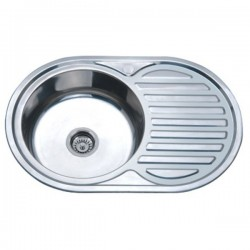 Врезная мойка для кухни Zerix Z7750-08-180D decor