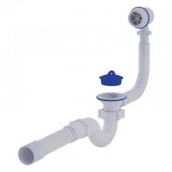 Сифон для ванны прямоточный с переливом Ани Пласт (C6155)
