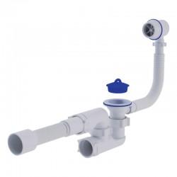 Сифон для ванны с ревизией, переливом Ани Пласт (C6255)