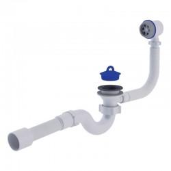 Сифон для ванны прямоточный с переливом Ани Пласт (E155-E156)