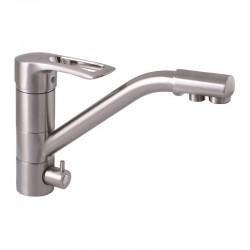 Смеситель для кухни с краном для питьевой воды Haiba Hansberg 021 нержавейка