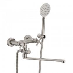 Смеситель для ванны из нерж. стали SUS304 MIXXUS DVE-006 двухручковый